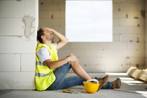 Construction worker is hurt and cant perform job