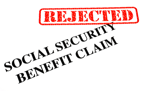 Social Security Claim Rejected