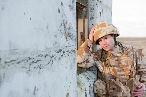 Soldier Experiencing PTSD